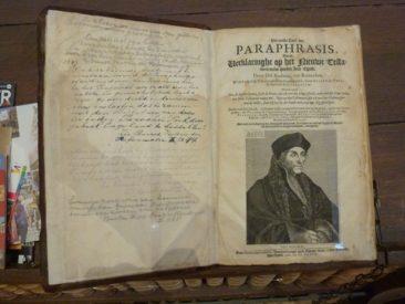 Gouda - Erasmus portrait in his translation of the New Testament