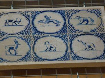 Gouda - old tiles in museum