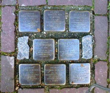 Gouda - memorial stones, which are brass tablets commemorating citizens sent to Nazi death camps.