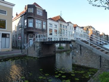 Gouda - Trappenbrug bridge, high enough to allow laden peat boats to pass under it.