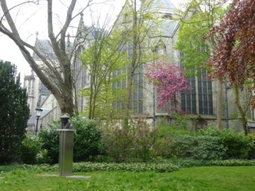 Gouda - Erasmus statue in garden of St. John's Church