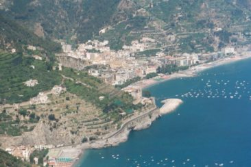 View of Amalfi Coast from Ravello hotel Amore
