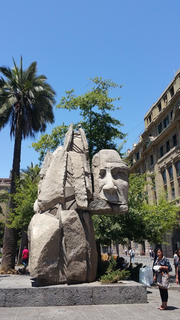 Tribute to Chilean indigenous people