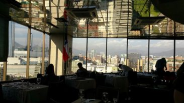 The distance at the revolving restaurant