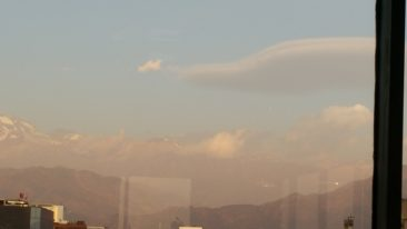 Andes mountains - from the restaurant