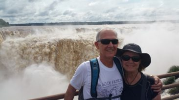 Charlene and Hoyt at Iguazu Falls