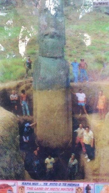 They dig Moai