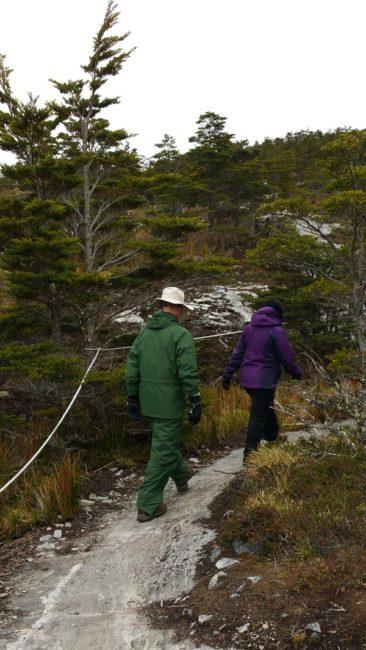 Hoyt hiking around glacier