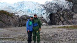 Hoyt and Charlene at Pia Glacier