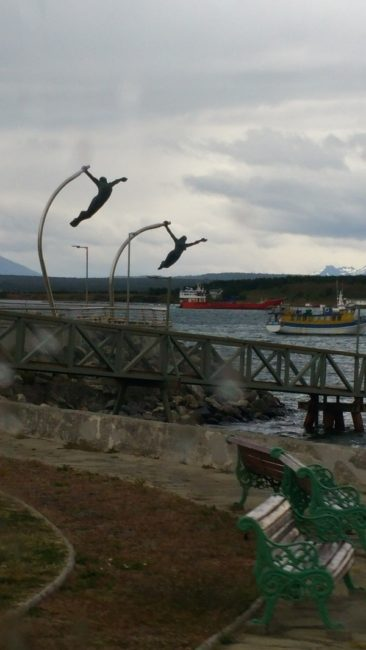 Art in Puerto Natales, a Chilean coastal city