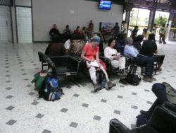 in the airport in Peru